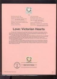 3274     33c Love-Victorian Hearts USPS Souvenir Page 99-03