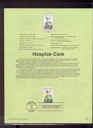 3276     33c Hospice Care USPS Souvenir Page 99-05