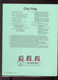 3278/80-81  33c Flag over City Coils(2) and Bkt USPS Souvenir P 99-07