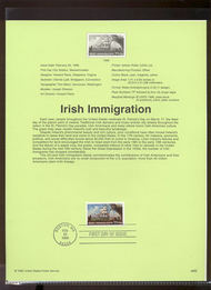 3286     33c Irish Immigration USPS Souvenir Page 99-08