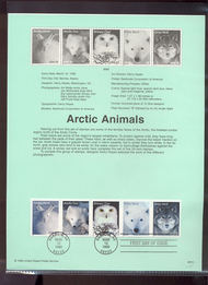 3288-92   33c Arctic Animals-Strip of 5 USPS Souvenir Page 99-10