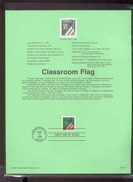 3283     33c Classroom Flag USPS Souvenir Page 99-10A