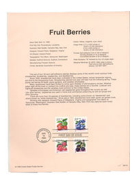3294-97   33c Fruit Berries USPS Souvenir Page 99-11A