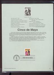 3309     33c Cinco de Mayo USPS Souvenir Page 99-14