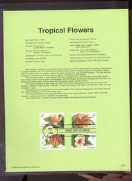 3310-13   33c Tropical Flowers USPS Souvenir Page 99-15