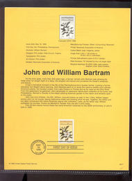 3314     33c John and William Bartram USPS Souvenir Page 99-17