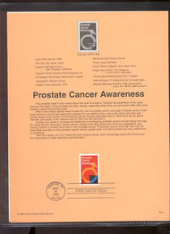 3315     33c Prostate Cancer Awareness USPS Souvenir Page 99-19