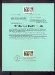 3316     33c California Gold Rush USPS Souvenir Page 99-20