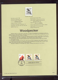3045     2c Woodpecker Coil (2) USPS Souvenir Page 99-20A