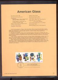 3325-27   33c American Glass S4 USPS Souvenir Page 99-23