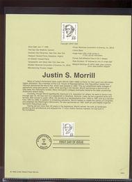2941     55c Justin S. Morrill Definitive USPS Souvenir Page 99-24