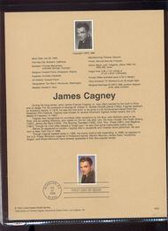 3329     33c James Cagney USPS Souvenir Page 99-25