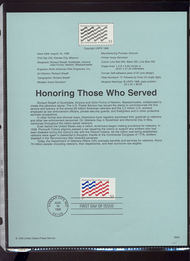 3331     33c Honoring Those Who Serve USPS Souvenir Page 99-29