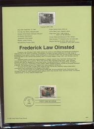 3338     33c Olmsted-Landscape Architect USPS Souvenir Page 99-31
