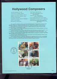 3344a    33c Hollywood Composers (6) USPS Souvenir Page 99-32