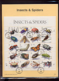 3351     33c Insects and Spiders MS20 USPS Souvenir Page 99-35