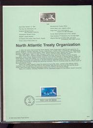 3354     33c NATO USPS Souvenir Page 99-39