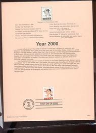 3369     33c Year 2000 USPS Souvenir Page 99-50