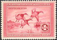 RW 2 1935 Duck Stamp $1 Canvasbacks F-VF  Unused Minor Defects rw2ogmd