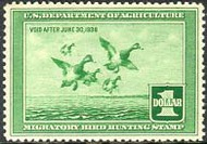 RW 4 1937 Duck Stamp $1 Scaup Duck F-VF Mint NH rw4nh