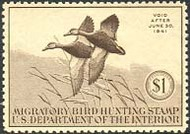 RW 7 1940 Duck Stamp $1 Mallards F-VF Unused Minor Defects rw7ogmd