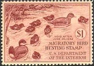 RW 8 1941 Duck Stamp $1 Ruddy Ducks F-VF Mint NH rw8nh