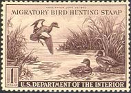 RW 9 1942 Duck Stamp $1 Baldpates F-VF Unused Minor Defects rw9ogmd