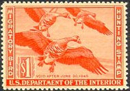 RW11 1944 Duck Stamp $1 Geese F-VF Unused Minor Defects RW11ogmd