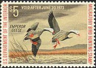RW39 1972 Duck Stamp $5 Emperor Geese F-VF Mint NH rw39nh