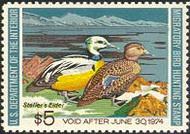 RW40 1973 Duck Stamp $5 Steller's Eiders F-VF Mint NH rw40nh