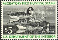 RW43 1976 Duck Stamp $5 Canada Geese F-VF Mint NH rw43nh