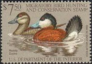 RW48 1981 Duck Stamp $7.50 Ruddy Ducks F-VF Mint NH rw48nh