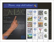 UNG 528 1,90 Fr Stop Child Labor Personalized Sheet of 10 ung528