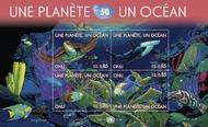 UNG 519-20 85c, 1fr One Plane One Ocean 2 Souvenir Sheets ung519