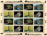 UNG 540-43 1fr 2011 Endangered Species Sheet of 16 ung543s