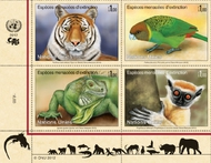 UNG 549-52 1 Fr Endangered Species block of 4 Mint NH ung549-52