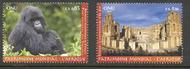 UNG 556-7 .85, 1.4 Fr World Heritage Africa Inscription Blocks o ung556ins