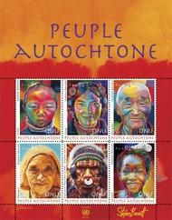 UNG 558 .85 FR Indigenous People Souvenir Sheet Mint NH ung558