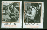 UNG 559-60 1.40, 1.90 UN World Radio Mint NH ung559-60nh