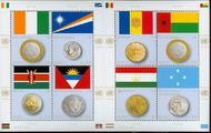 UNG 576 1.40 Flag & Coin Sheetlet of 8 Mint NH ung576sh