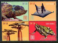 UNG 632-635 1.50 Fr Endangered Species Block of 4 Mint ung632-5blk
