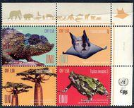UNG 632-635 1.50 Fr Endangered Species Inscription Block of 4 ung632-5ib