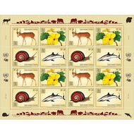 UNG 646-49 1.50 Fr Endangered Species Sheet of 16 Mint NH ung646-9sh