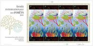 UNG 544-45 85c, 1.40 fr International Year of Forests Sheet of 8 ung545sh