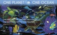 UNNY 1003-04 44c, 98c One Planet One Ocean 2 Souvenir Sheets 1004ss