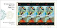 UNNY 1035-6 44c, 98c International Year of Forests Sheet of 8 1036sh