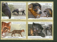 UNNY 1074-77 $1.10 Endangered Species Block Mint NH unny1074-7nh
