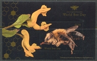UNNY 1216 $3.00 World Bee Day Souvenir Sheet Mint NH unny1216