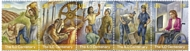 UNNY 1219-23 55c ILO Centenary Strip of 5 Mint NH unny1219-23