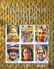 UNNY 1019 44c Indigenous People F-VF NH Pane of 6 unnyind